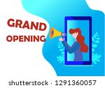 grand opening vector...