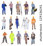 industrial construction workers.... | Shutterstock . vector #129136241