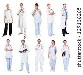 medical workers  doctors ... | Shutterstock . vector #129136265