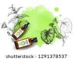 product mockup and sketch... | Shutterstock .eps vector #1291378537