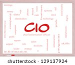 cio word cloud concept on a dry ...   Shutterstock . vector #129137924