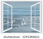 Sailboats In The Sea Vector...