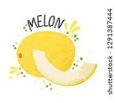vector hand draw melon... | Shutterstock .eps vector #1291387444