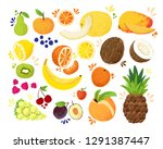 set of colorful hand draw...   Shutterstock .eps vector #1291387447