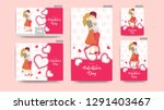 valentine's day header and... | Shutterstock .eps vector #1291403467