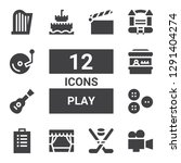 play icon set. collection of 12 ... | Shutterstock .eps vector #1291404274