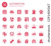 automotive icon set. collection ... | Shutterstock .eps vector #1291404367