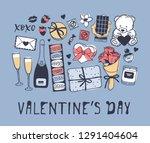 hand drawn fashion illustration ... | Shutterstock .eps vector #1291404604