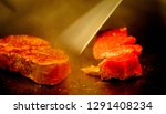 super delicious kobe steak set... | Shutterstock . vector #1291408234