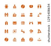 unity icon set. collection of... | Shutterstock .eps vector #1291408654