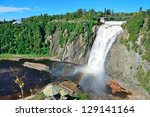 Montmorency Falls With Rainbow...