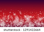 realistic snowflakes background.... | Shutterstock .eps vector #1291422664