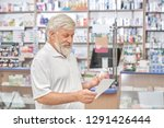 cheerful old man standing in... | Shutterstock . vector #1291426444