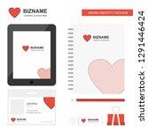 heart business logo  tab app ...   Shutterstock .eps vector #1291446424