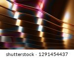 colorful metal curved sheets ... | Shutterstock . vector #1291454437