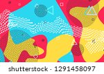 pop art color background.... | Shutterstock .eps vector #1291458097
