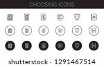 choosing icons set. collection... | Shutterstock .eps vector #1291467514