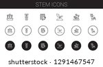 stem icons set. collection of...   Shutterstock .eps vector #1291467547