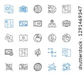 continent icons set. collection ... | Shutterstock .eps vector #1291469347