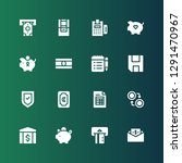 account icon set. collection of ... | Shutterstock .eps vector #1291470967