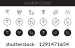 humor icons set. collection of... | Shutterstock .eps vector #1291471654
