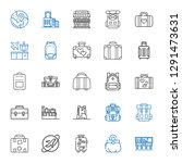 baggage icons set. collection... | Shutterstock .eps vector #1291473631