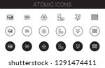 atomic icons set. collection of ... | Shutterstock .eps vector #1291474411