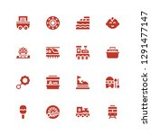train icon set. collection of... | Shutterstock .eps vector #1291477147