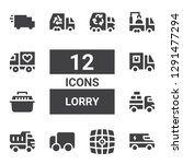 lorry icon set. collection of...   Shutterstock .eps vector #1291477294