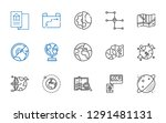 continent icons set. collection ... | Shutterstock .eps vector #1291481131