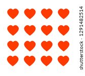 valentine love background vector | Shutterstock .eps vector #1291482514