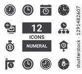 numeral icon set. collection of ...   Shutterstock .eps vector #1291482607