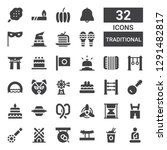 traditional icon set.... | Shutterstock .eps vector #1291482817