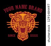 tattoo tiger head logo for... | Shutterstock .eps vector #1291484497