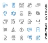 customer icons set. collection...