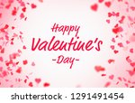 valentine s day card with... | Shutterstock . vector #1291491454