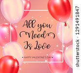 happy valentines day typography ... | Shutterstock .eps vector #1291491847