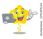 with laptop star balloon was... | Shutterstock .eps vector #1291495114