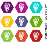 floodlight icons 9 set coloful... | Shutterstock .eps vector #1291499194