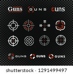 shooting range template and... | Shutterstock . vector #1291499497