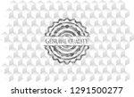 genuine quality grey emblem.... | Shutterstock .eps vector #1291500277