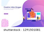 creative vlog content vector...