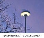 streetlamp in icicles in norway ... | Shutterstock . vector #1291503964