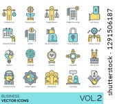 business icons including...   Shutterstock .eps vector #1291506187