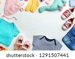 flat lay composition with cute...   Shutterstock . vector #1291507441