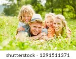 parents and children are happy... | Shutterstock . vector #1291511371