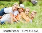 family and kids have fun... | Shutterstock . vector #1291511461