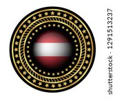 gold emblem with austria flag.... | Shutterstock .eps vector #1291513237