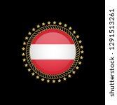gold emblem with austria flag.... | Shutterstock .eps vector #1291513261