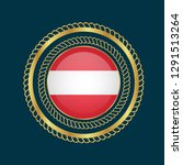 gold emblem with austria flag.... | Shutterstock .eps vector #1291513264